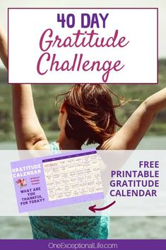 40 Day Gratitude Challenge: Count Your Blessings - One Exceptional Life - Gratitude is critical in order to living a joyful life. So, let's bypass the typical month of gr -