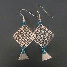 bijoux diy boucles d'oreilles triangle losange