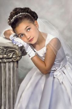 Gabriella The Real Housewives of New Jersey. Portrait Artistry By Linda Marie  First Holy Communion Portrait
