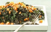 Subtly #sweet, toasted macadamia nuts take kale to new culinary heights in this easy side. #recipe