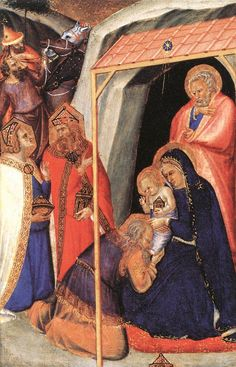 """The Adoration of the Magi By Pietro Lorenzetti 1340. """"Do not be amazed at this, for a time is coming when all who are in their graves will hear his voice"""" JOHN 5:28"""