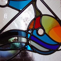 12. Contemporary stained glass - Detail.