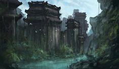 Castle wall concept art - Google Search
