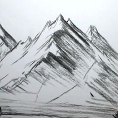 realizare Easy Drawings Sketches, Pencil Art Drawings, Drawing Ideas, Mountain Drawing, Landscape Drawings, Landscapes, Mountain Landscape, Anime Chibi, Cute Art