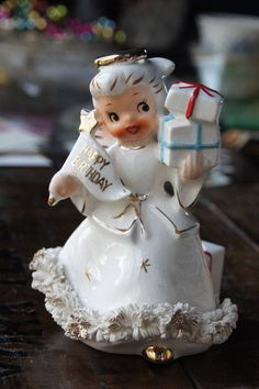 Holt Howard Happy Birthday Angel Candle Holder ~ Made in Japan ~ Vintage Figurine by smileitsvintage on Etsy