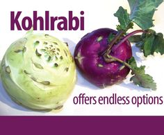 Kohlrabi, seen here, can be peeled and eaten raw, sliced and added to salads and soups, or cooked in a variety of ways ...  OR ... make some fries.