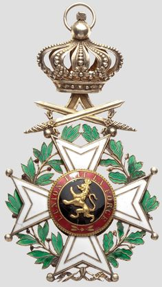 Order of Leopold (military), Grand Cordon badge, 2nd model 1839-1951. obv