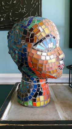 Check out this item in my Etsy shop https://www.etsy.com/listing/275893408/valentine-bohemian-mosaic-art-glass-head