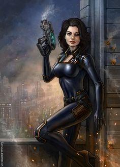 Mass Effect - Miranda Lawson Mass Effect Characters, Sci Fi Characters, Cyberpunk, Mass Effect Miranda, Miranda Lawson, Mass Effect Art, Mass Effect Universe, Shadowrun, Ice Queen