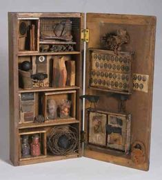 Once and Future Things by Lanny Lasky,  wood, paper, metal, 1999
