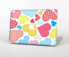 """The Fun Colored Heart Patches Skin Set for the Apple MacBook Pro 15"""" with Retina Display from Design Skinz"""