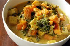 Jamaican Tofu Chowder with Collards