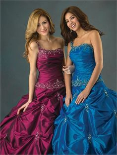 Ball Gown One Shoulder with Beading Floor Length Taffeta Quinceanera Dress QD1139 www.dresseshouse.co.uk £136.0000
