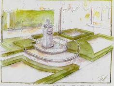 Garten- und Landschaftsplanung Park, Painting, Landscape Architecture, Watercolor, Painting Art, Parks, Paintings, Draw