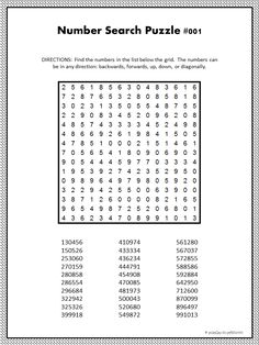 These printable number search puzzles work just like a word search, except you are looking for number sequences. Great for training your visual quickness. Free Kindergarten Worksheets, Printable Math Worksheets, Math Activities For Kids, 1st Grade Worksheets, Number Worksheets, Worksheets For Kids, 5th Grade Math, Number Puzzles, Maths Puzzles