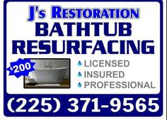 When it comes to remodeling and updating your bathroom, many people are unaware that their assets can be updated and reused instead of completely replaced. There are many methods that can make an old, worn out bathtub or shower stall look like new. Livingston Parish Bathtub Reglazing is one of these methods in which a new glaze finish is bonded to your existing unit restoring it to a like new condition.