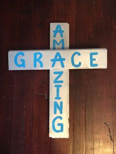 Amazing Grace cross  by RusticSouthernCross on Etsy