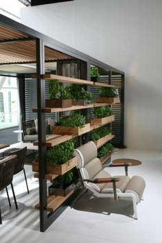 DIY Vertical Garden Design Ideas For Your Home Mrs. Zizzuli zoeandmohijto Interior design ❤️❤️ Ladder vertical garden … the … Home Design, Diy Design, Interior Design, Vertical Garden Design, Vertical Gardens, Room Partition Designs, Interior Garden, Office Interiors, New Homes