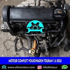 Moteur complet Volkswagen Touran 1.6 BGU 🔵120.000 Kms certifiés 🔵Référence moteur BGU 🔵Compatible Audi A3 - Volkswagen Golf V 🔵Année 2005 🔵Livré complet sans boîte de vitesses 🔵Garantie 3 mois