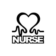 Nurse Heart Sign Word Graphics SVG Dxf EPS Png Cdr Ai Pdf Vector Art Clipart instant download Digital Cut Print File Cricut Silhouette Decal by VectorartDesigns on Etsy