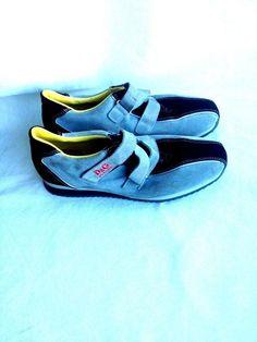 Dolce&Gabbana Junior  Gray Suede Velcro Close Sneaker (Women) Size 7.5 Eur 39 #DGJunior #Sneakers