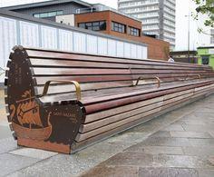 OMOS - St Nazaire friendship bench – Keel Square, Sunderland