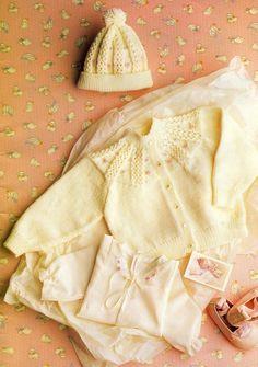 Items similar to PDF Knitting pattern design 10 cardigan and hat. on Etsy Baby Knitting Patterns, Baby Dress Patterns, Baby Clothes Patterns, Baby Hats Knitting, Vintage Knitting, Knitted Hats, Crochet Patterns, Cardigan Pattern, Baby Outfits Newborn