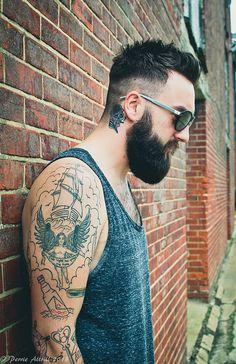 Under cut w/ no blend & Beard