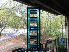 Stained Glass Suncatcher Panel by GKYCreations on Etsy