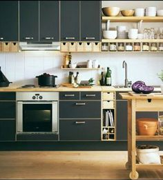 6 Engaging Clever Tips: Minimalist Decor Home Minimalism minimalist living room small interior design.Minimalist Home Tour Shelves minimalist decor simple white bedrooms. Ikea Kitchen, Small Kitchen Appliances, Kitchen Decor, Kitchen Cabinets, Kitchen Ideas, Kitchen Inspiration, Decorating Kitchen, Black Cabinets, Kitchen Trends