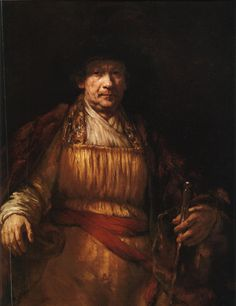 Rembrandt van Rijn SELF-PORTRAIT 1658. Oil on canvas, 52 5/8x407/8''. The Frick Collection, New York.