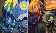 Ursula Goff, 33, from Kansas, pays homage to paintings by Van Gogh, Munch, Monet and Warhol in her hair styles. She says that she is inspired by colour, and the styles can take up to 10 hours.
