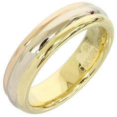Cartier Trinity 18k Yellow/White/Pink Gold Wedding Band Ring Us Size 4.5
