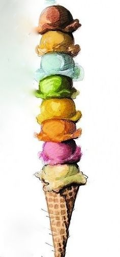 ".The ""I can't decide which flavor I want"" ice cream cone!!!"