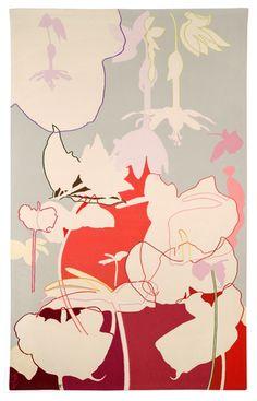 Lourdes Castro : Sombras brancas I. Tapeçaria, 200x124 cmm. Manufactura de Tapeçarias de Portalegre