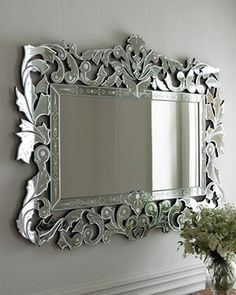 'Giorgia' Venetian-Style Mirror - mediterranean - mirrors - - by Horchow ornate but beautiful in the right spot!