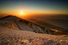 Sundown at Mont Ventoux by schieflicht