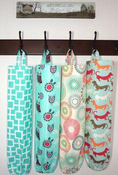 Plastic Bag Holder Grocery Bag Storage Kitchen Bag Storage Dachshund Owl  Geometric Pinwheel Storage Bag Holder