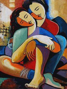 Contemporary Fine Art by Jeanette Jarville Cubist Art, Abstract Art, Tableau Pop Art, Art Visage, Indian Art Paintings, Arte Popular, Erotic Art, Figurative Art, Painting Inspiration