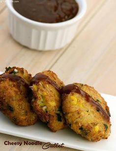 Cheesy Noodle Cutlet