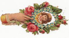 Hand of Love   Victorian scrap