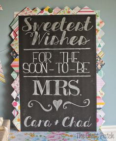 """Love is Sweet"" Bridal Shower decor. This whole party is cute and the food is amazing!"