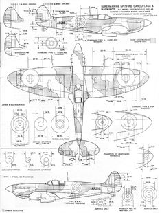 "vehicles - RAF ""A"" and ""B"" pattern Spitfire Camo? Ww2 Aircraft, Fighter Aircraft, Military Aircraft, Fighter Jets, Airplane Drawing, Airplane Art, Airplane Sketch, Spitfire Supermarine, Spitfire Model"
