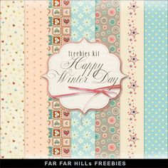 FREE Freebies Kit of Paper - Happy Winter Day BY Far Far Hill