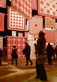 Infinite Variety: Three Centuries of Red and White Quilts At The Park Avenue Armory