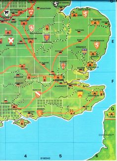 A portion of the Kingmaker game map.