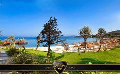 İndigo blue sea and white sandy beach  Masmavi deniz ve bembeyaz sahil... #Vogue #Hotels #Bodrum