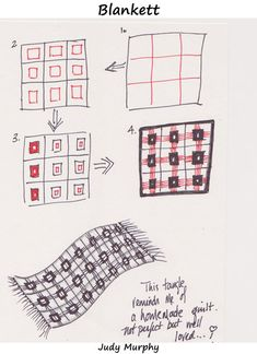 Steps for drawing Blankett by Judy Murphy