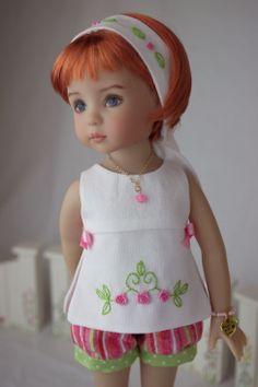 A Summer Short Set for Effner's Little Darling Dolls