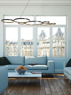 Le Deun lighting: l'ultra 8 black circle series, made in France